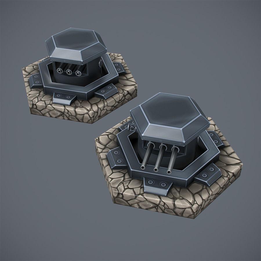 Torre de armas royalty-free modelo 3d - Preview no. 10