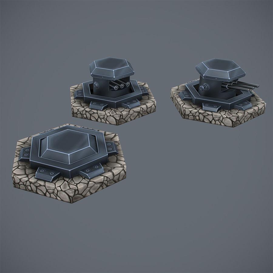 Torre de armas royalty-free modelo 3d - Preview no. 9