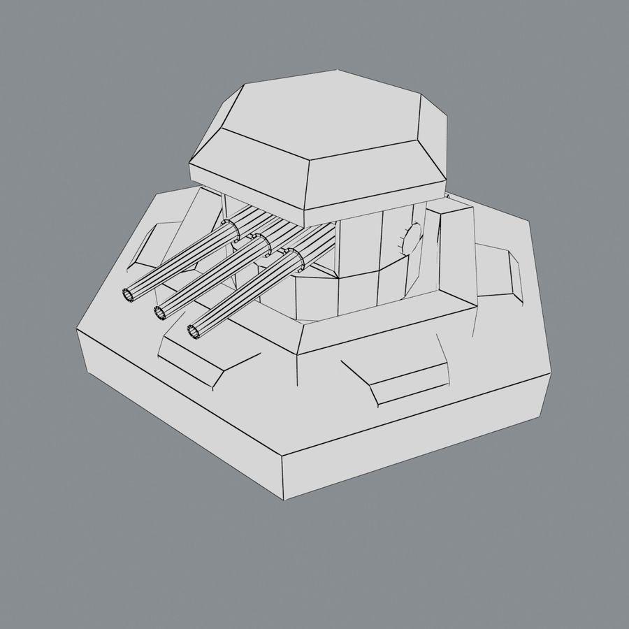 Torre de armas royalty-free modelo 3d - Preview no. 4