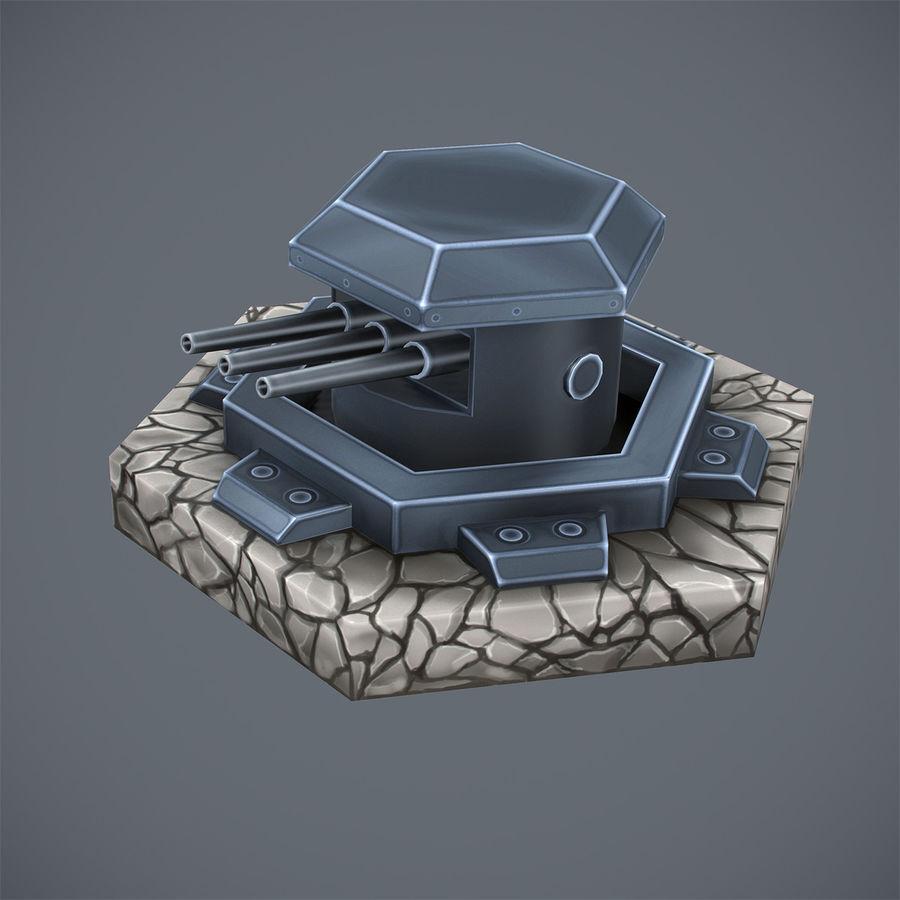 Torre de armas royalty-free modelo 3d - Preview no. 6