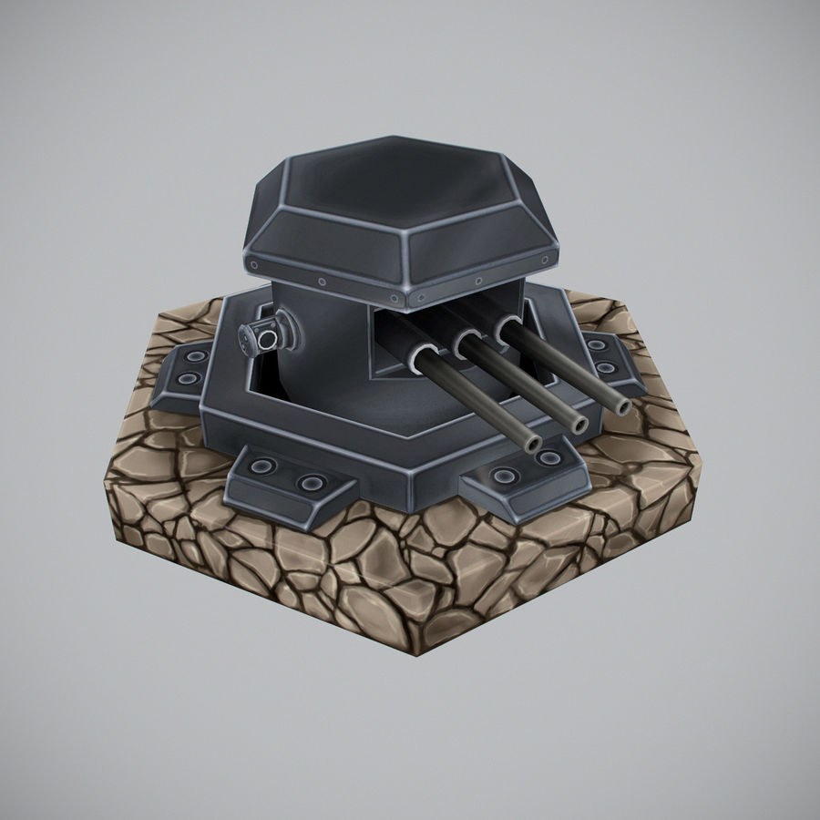 Torre de armas royalty-free modelo 3d - Preview no. 3