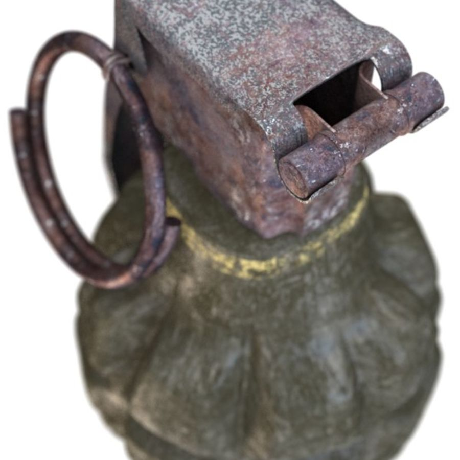 Grenade royalty-free 3d model - Preview no. 9