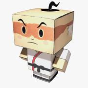 Paper Cube Karate Man 3d model