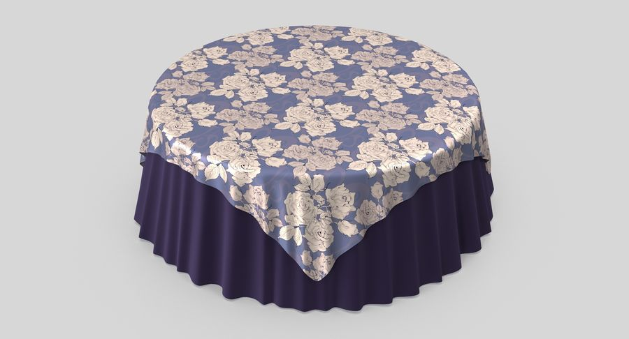 Tablecloth 4 royalty-free 3d model - Preview no. 4