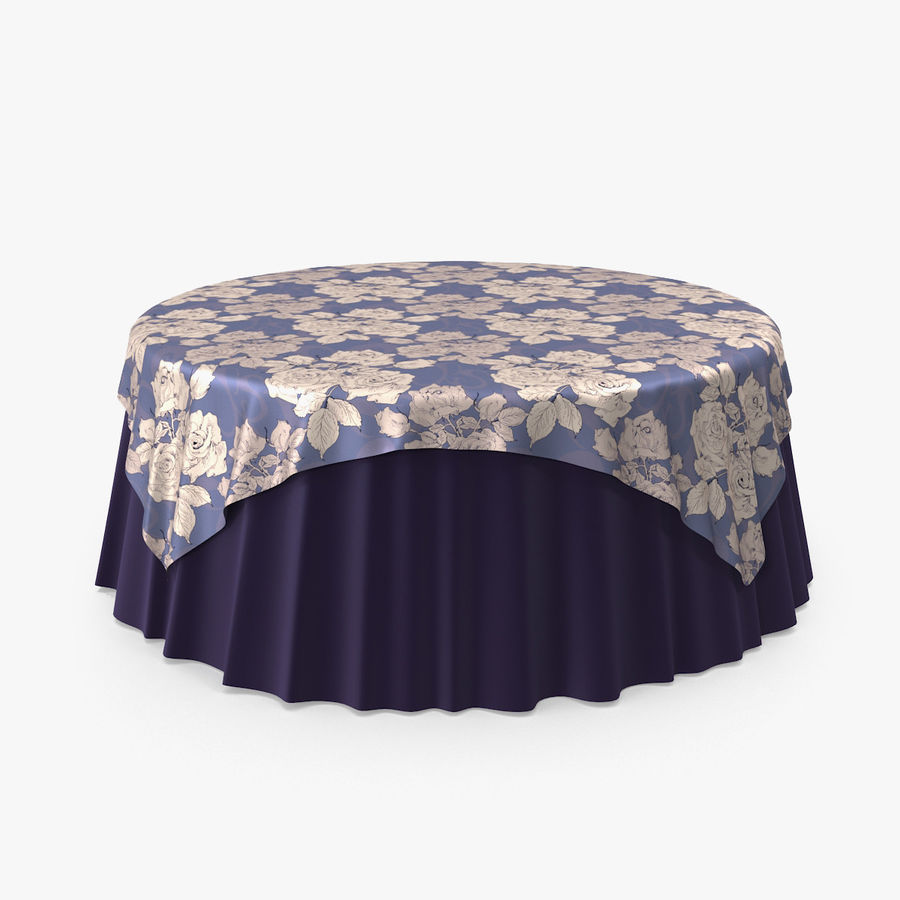 Tablecloth 4 royalty-free 3d model - Preview no. 1