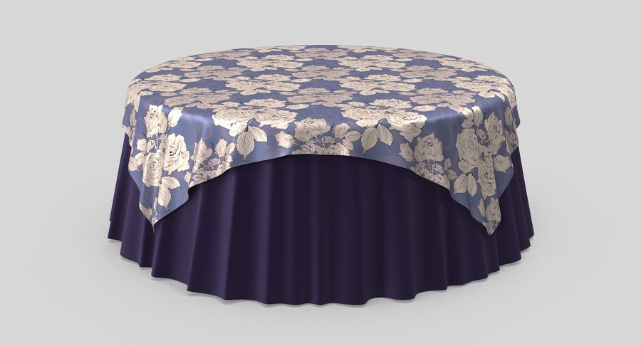 Tablecloth 4 royalty-free 3d model - Preview no. 2