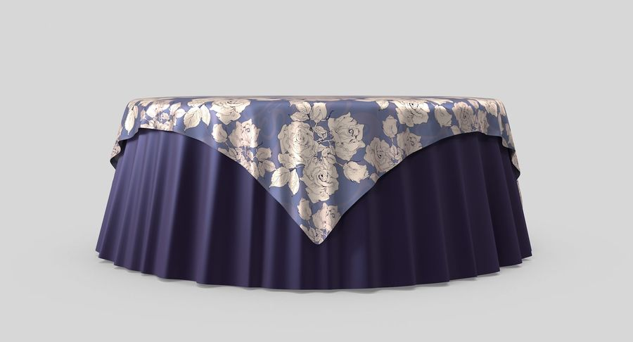 Tablecloth 4 royalty-free 3d model - Preview no. 5