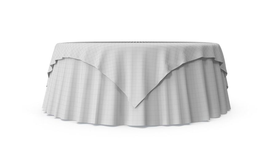 Tablecloth 4 royalty-free 3d model - Preview no. 7