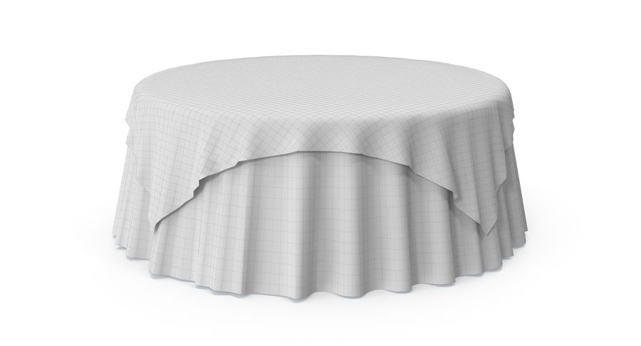 Tablecloth 4 royalty-free 3d model - Preview no. 8