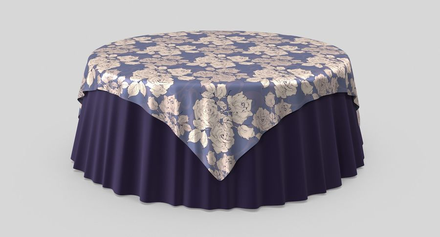 Tablecloth 4 royalty-free 3d model - Preview no. 3
