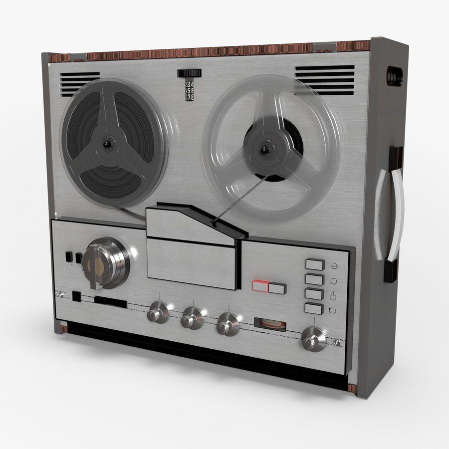 Retro Reel Audio Tape Recorder 3D Model $12 -  c4d  max  ma