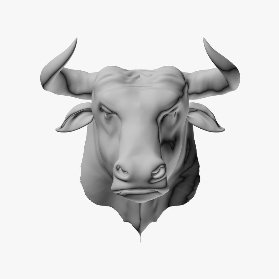 Bull head royalty-free 3d model - Preview no. 1