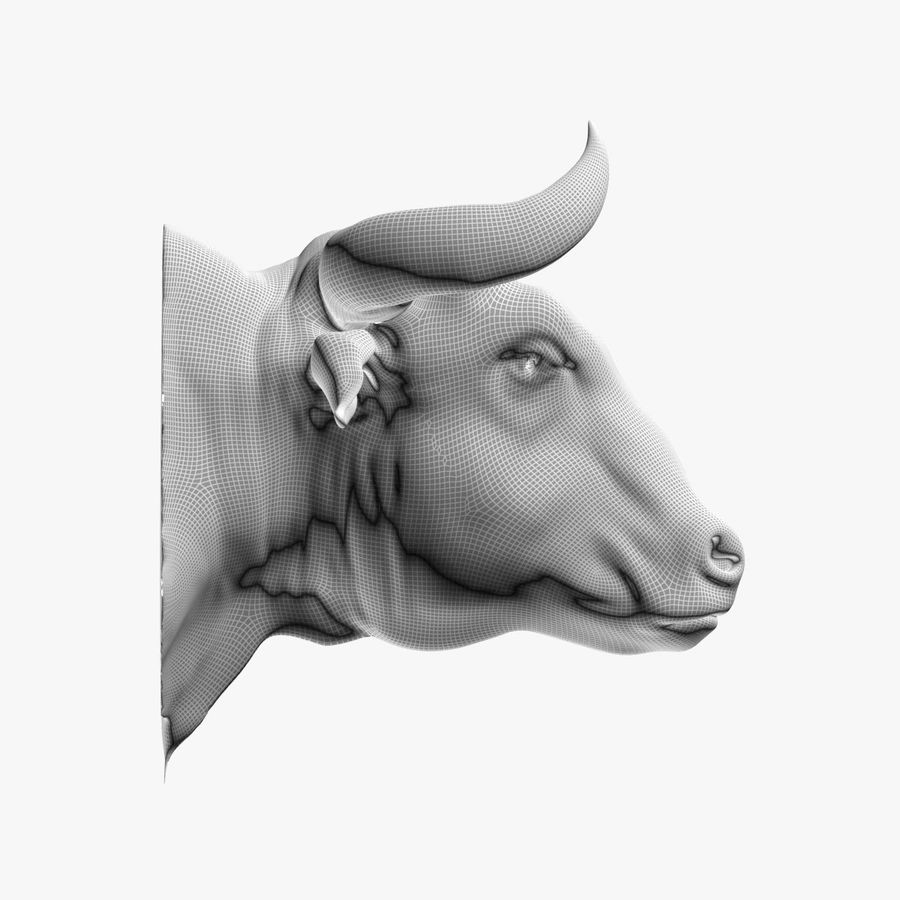 Bull head royalty-free 3d model - Preview no. 9