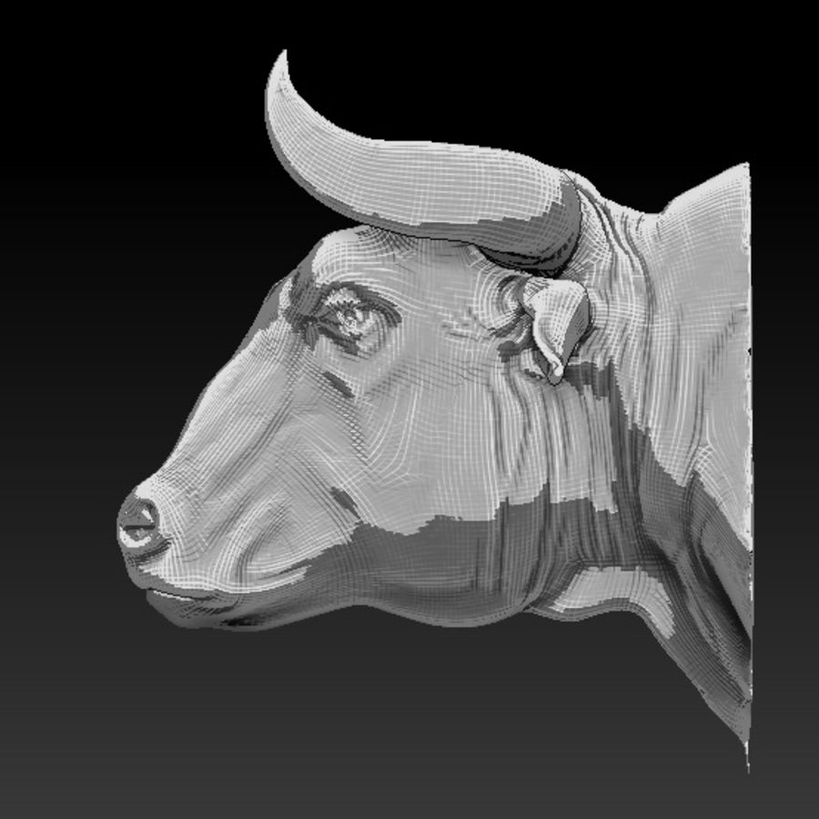 Bull head royalty-free 3d model - Preview no. 5