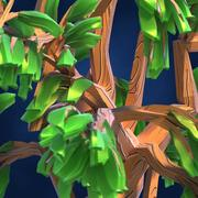 Lowpoly Fantasy Cartoon Game Tree 01 3d model