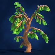 Lowpoly Fantasy Cartoon Game Tree 02 3d model