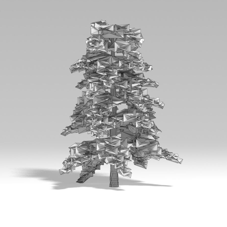 Snowtree V4 royalty-free 3d model - Preview no. 11