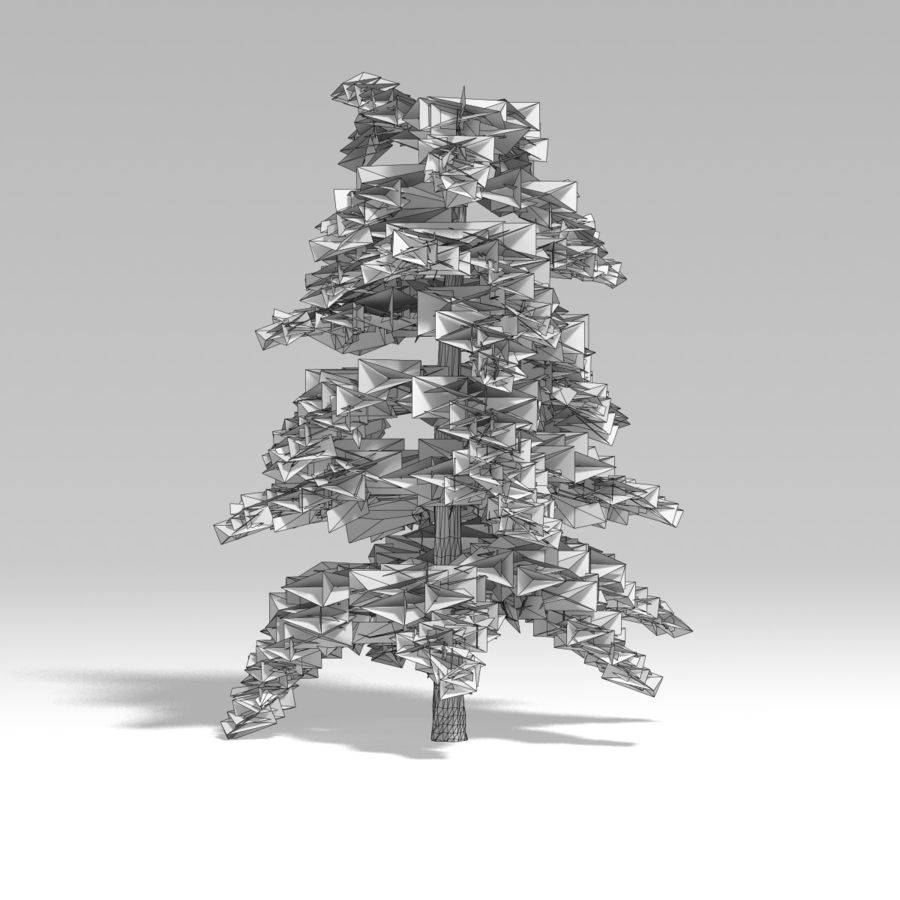 Snowtree V4 royalty-free 3d model - Preview no. 10