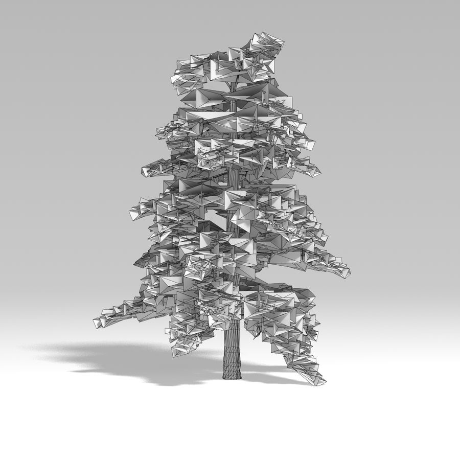 Snowtree V4 royalty-free 3d model - Preview no. 7