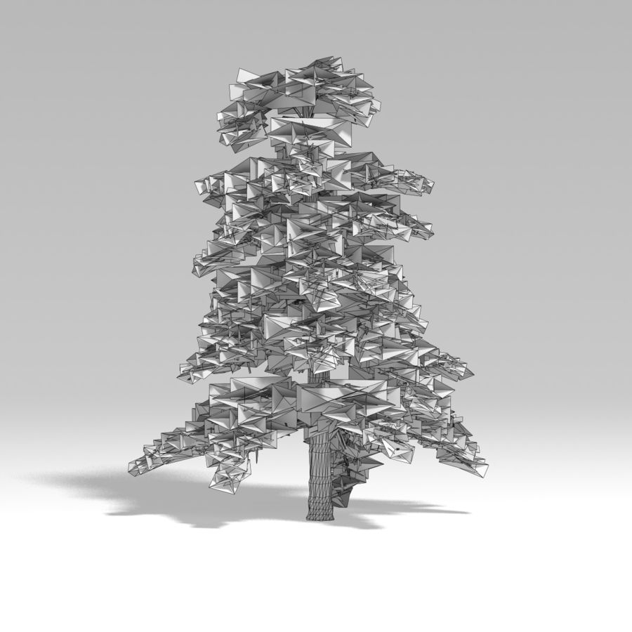 Snowtree V4 royalty-free 3d model - Preview no. 12