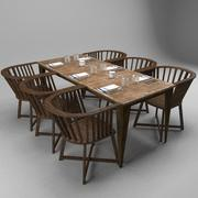 Restaurant Table(3) 3d model
