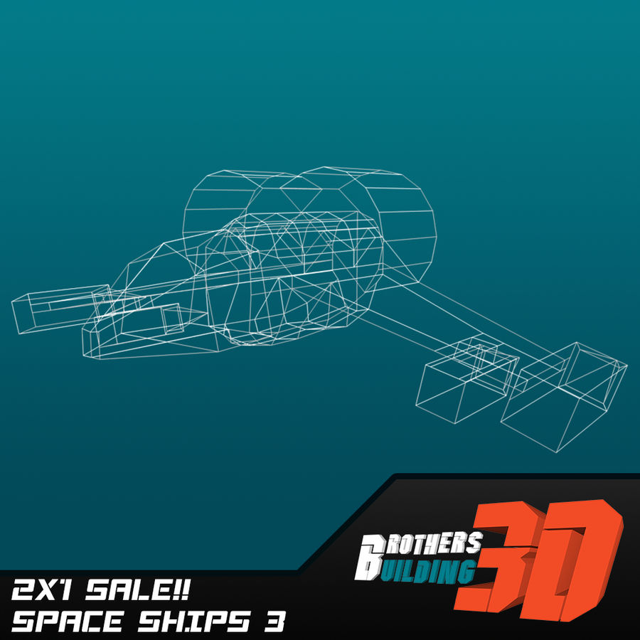 SpaceShips 4 royalty-free 3d model - Preview no. 4