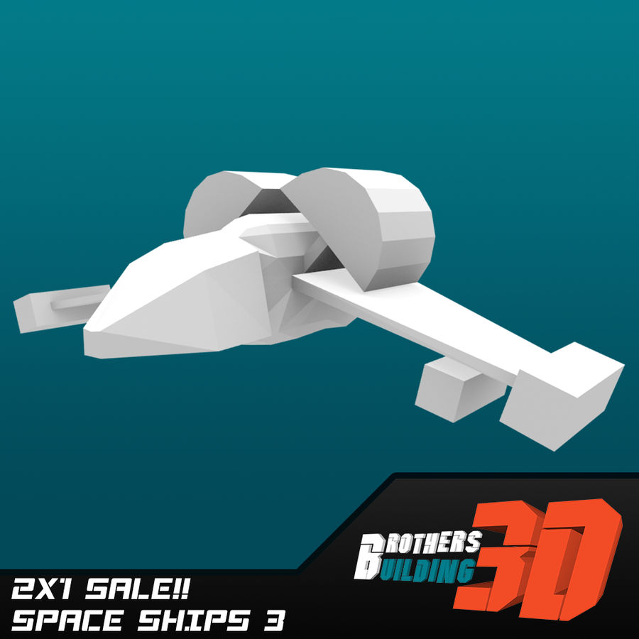 SpaceShips 4 royalty-free 3d model - Preview no. 3