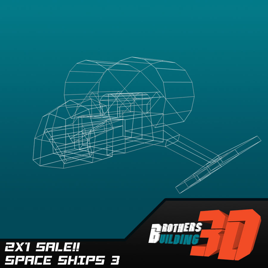 SpaceShips 4 royalty-free 3d model - Preview no. 6