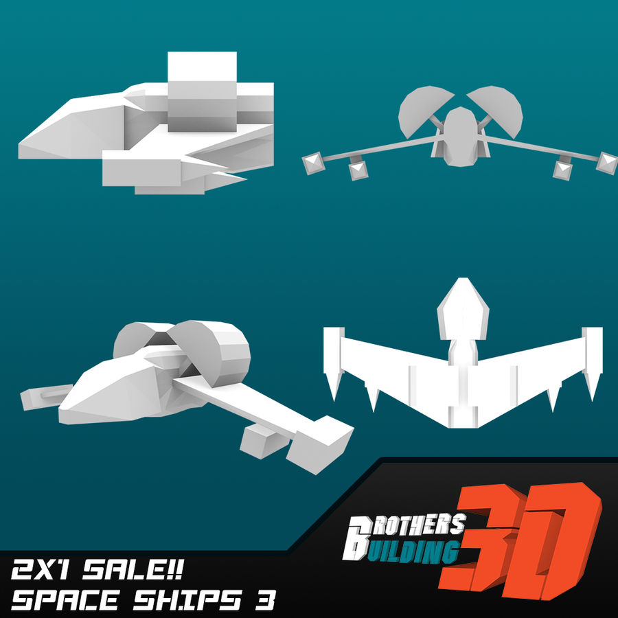 SpaceShips 4 royalty-free 3d model - Preview no. 1