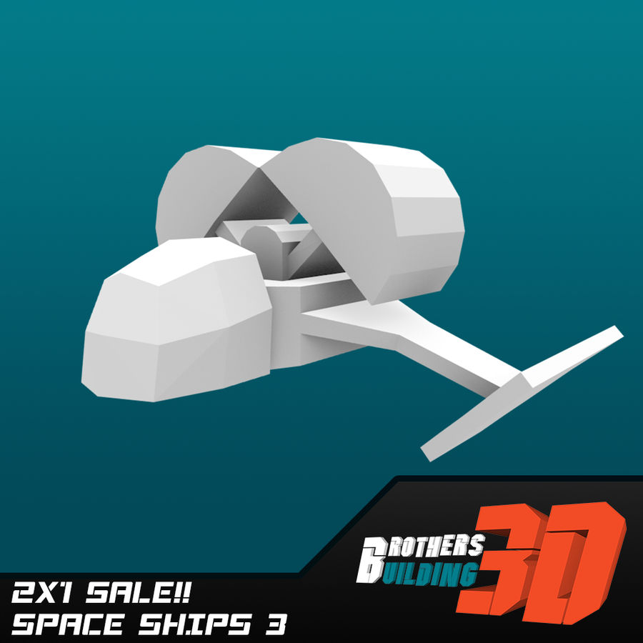 SpaceShips 4 royalty-free 3d model - Preview no. 5