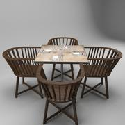 Restaurant Table 3d model