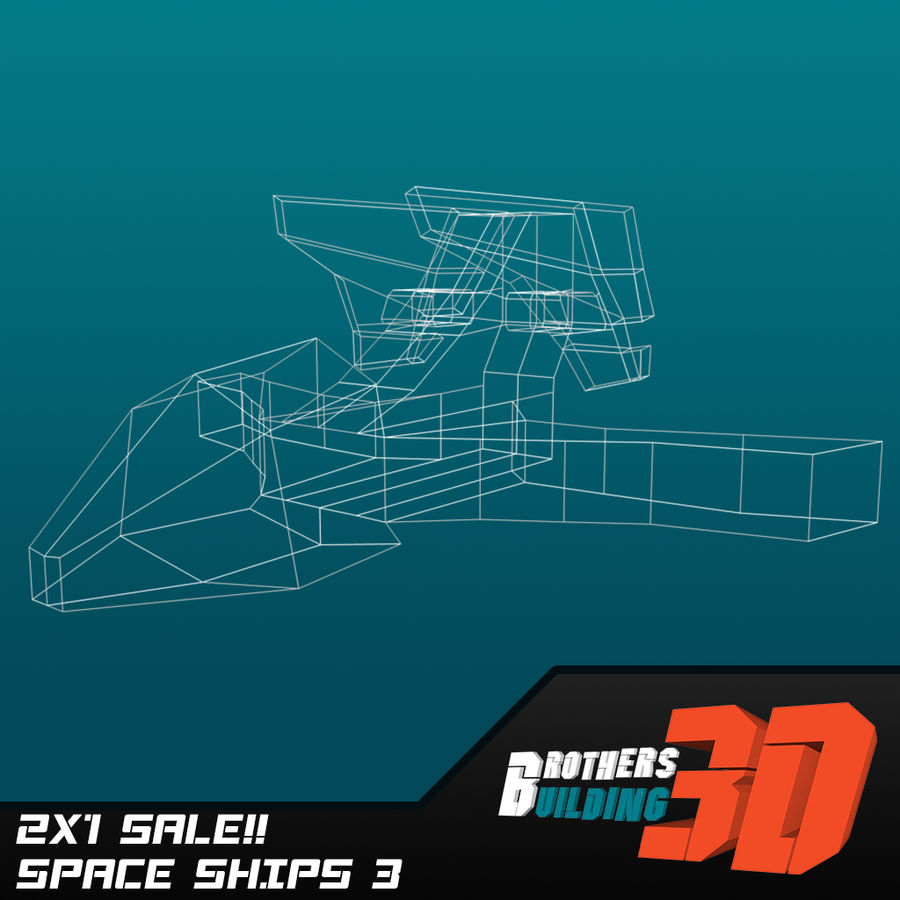SpaceShips 1 royalty-free 3d model - Preview no. 6