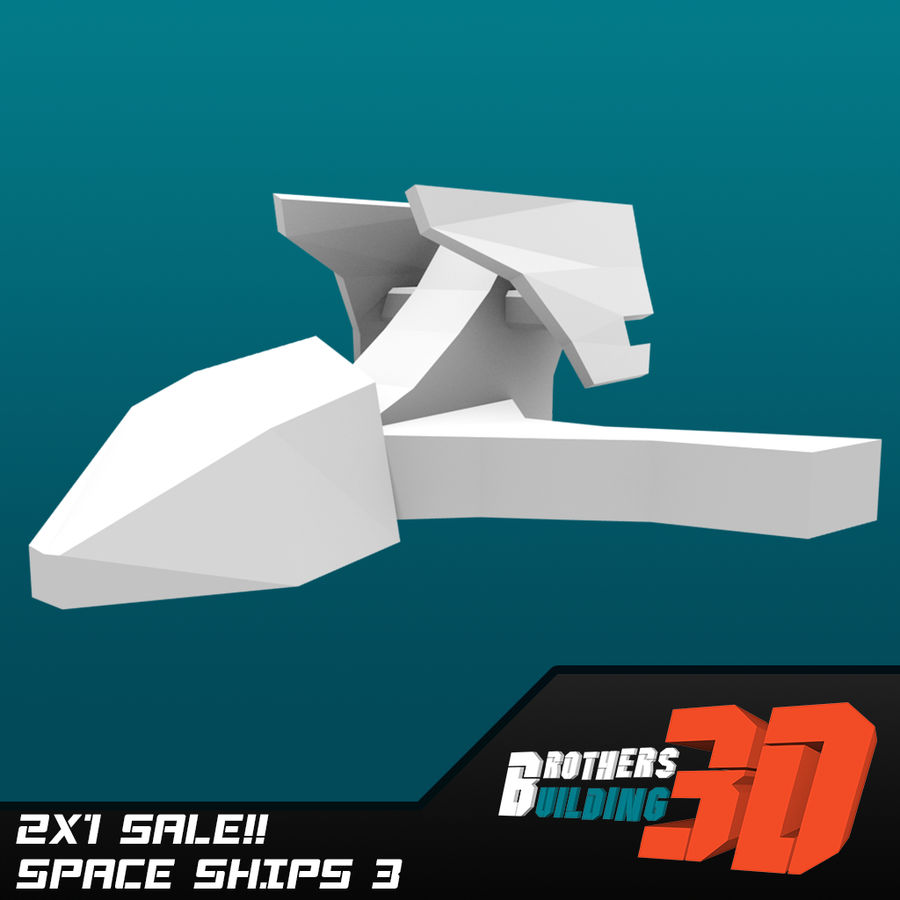 SpaceShips 1 royalty-free 3d model - Preview no. 5