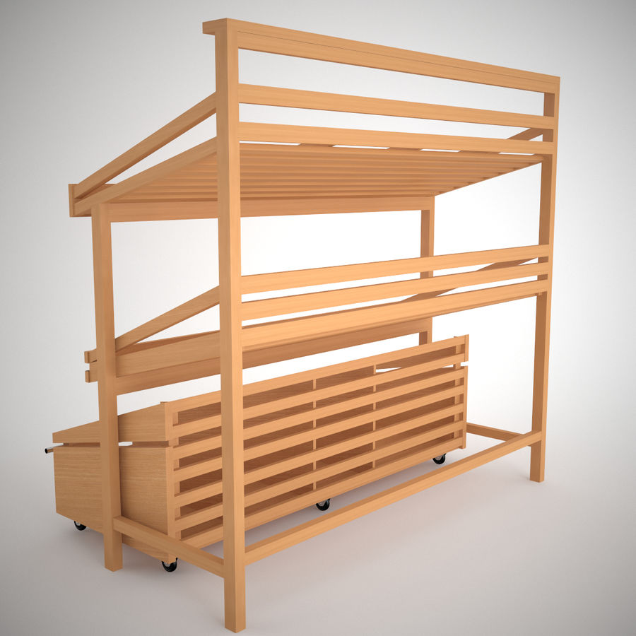 Vegetable rack 3D Model $5 -  unknown  obj  max  fbx - Free3D