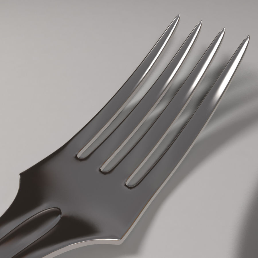 Fork & Spoon royalty-free 3d model - Preview no. 3