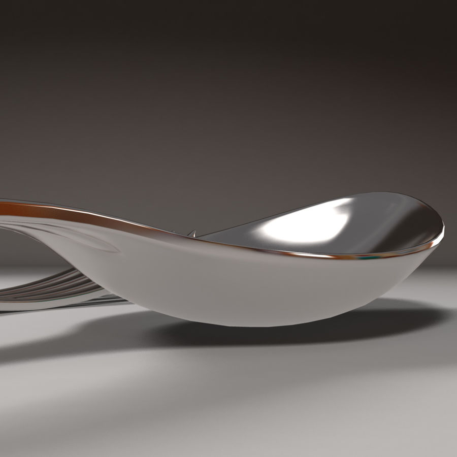 Fork & Spoon royalty-free 3d model - Preview no. 5