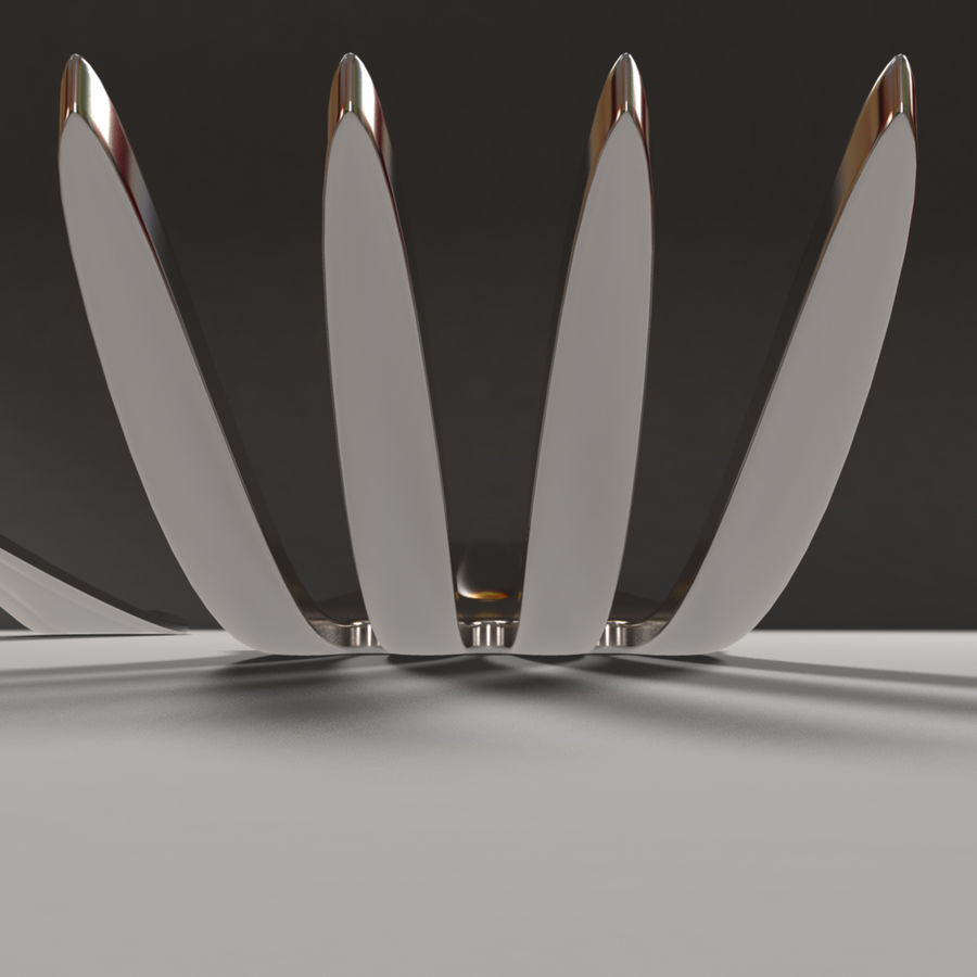 Fork & Spoon royalty-free 3d model - Preview no. 6
