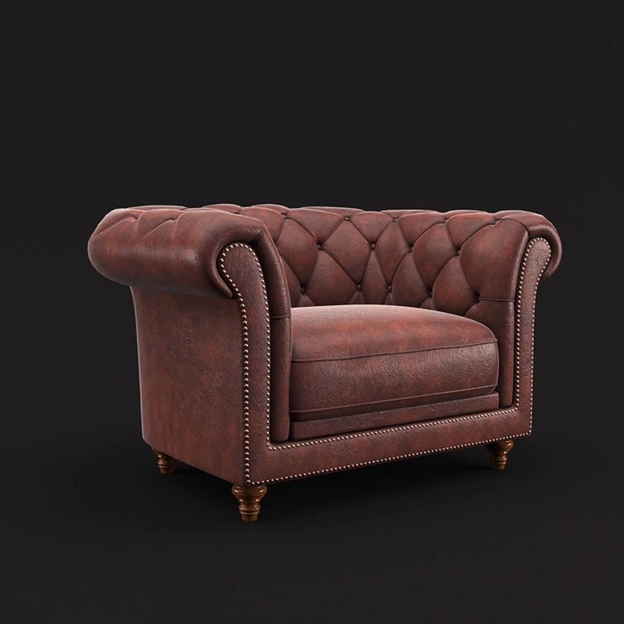切斯特菲尔德扶手椅 royalty-free 3d model - Preview no. 1