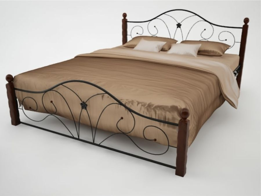 freight bedroom allen wesley bed wrought braden set by iron