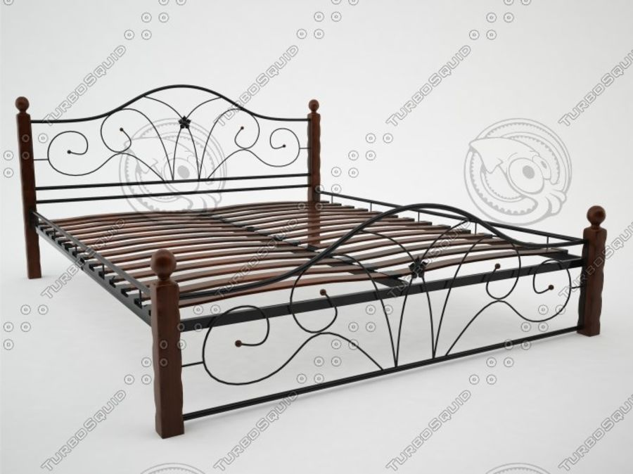 wrought iron bed 1 royalty-free 3d model - Preview no. 5