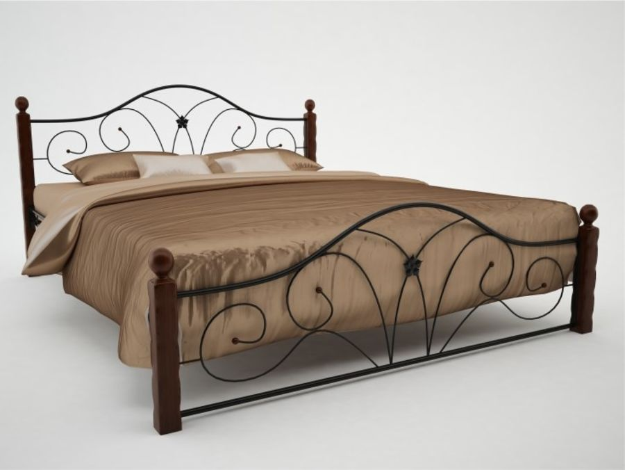 wrought iron bed 1 royalty-free 3d model - Preview no. 1