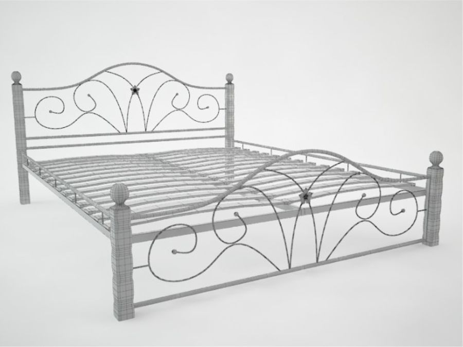 wrought iron bed 1 royalty-free 3d model - Preview no. 6