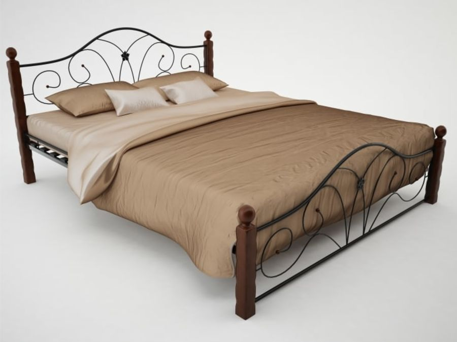 wrought iron bed 1 royalty-free 3d model - Preview no. 2