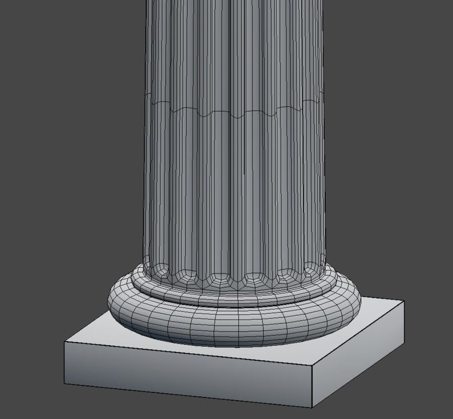 Doric Column royalty-free 3d model - Preview no. 13