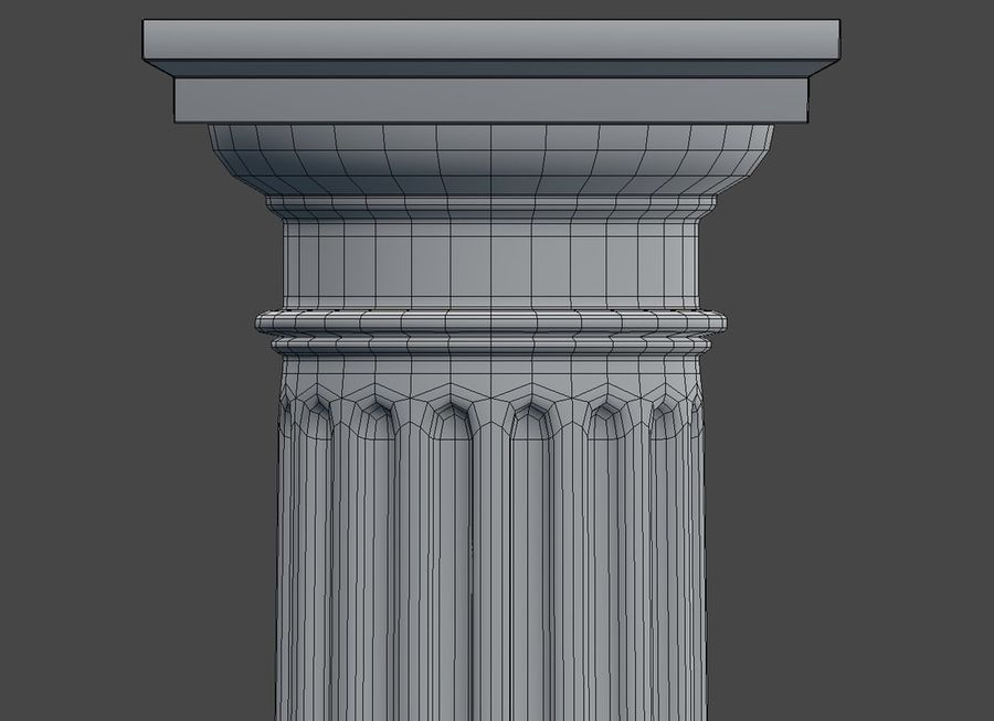 Doric Column royalty-free 3d model - Preview no. 11