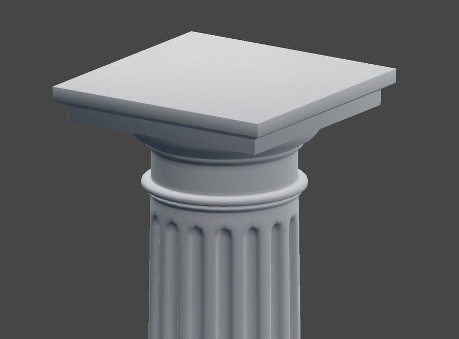 Doric Column royalty-free 3d model - Preview no. 7