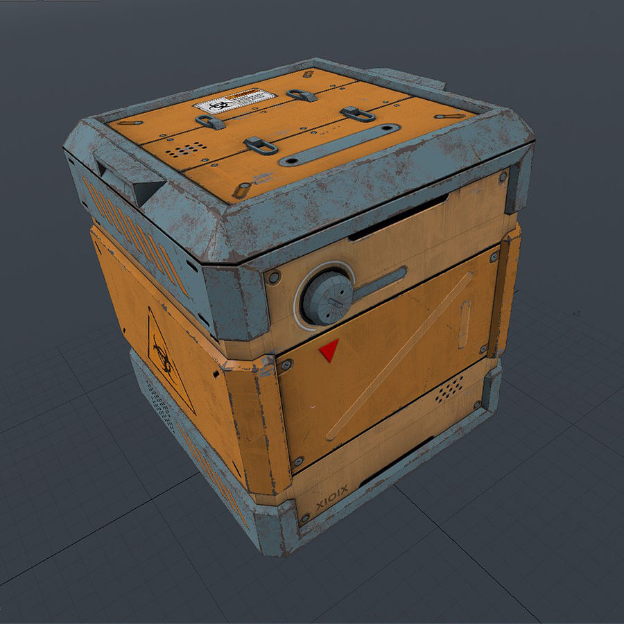 Sci-fi Biohazard Container royalty-free 3d model - Preview no. 5