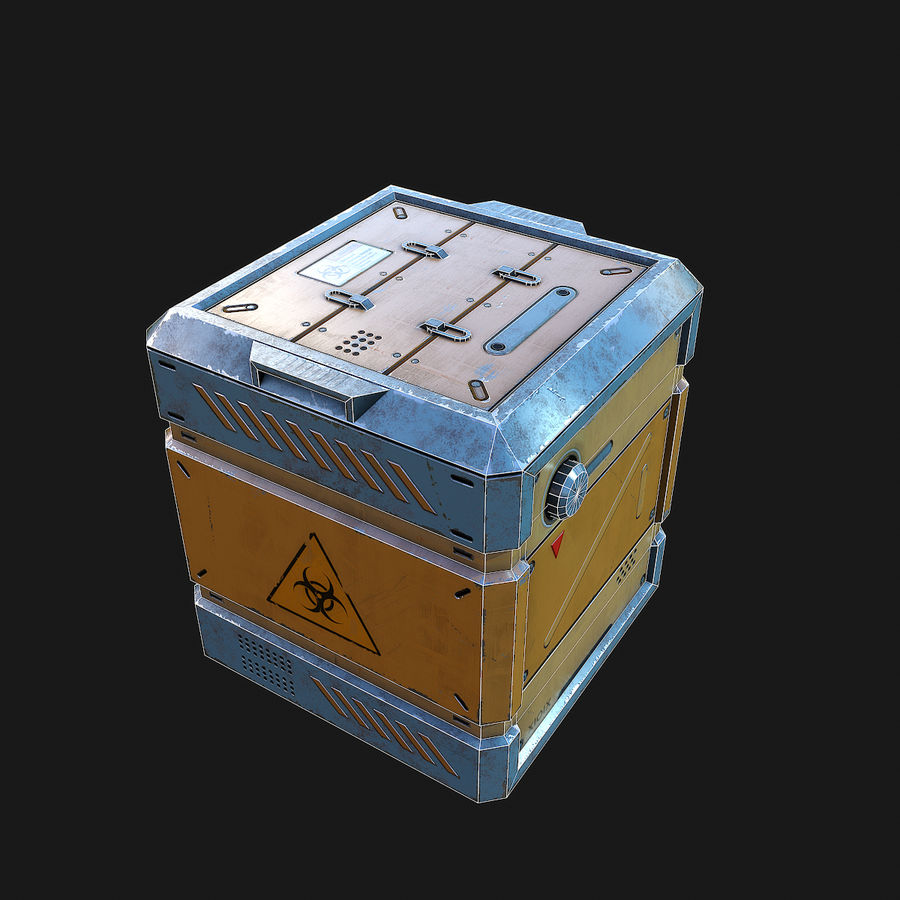 Sci-fi Biohazard Container royalty-free 3d model - Preview no. 8