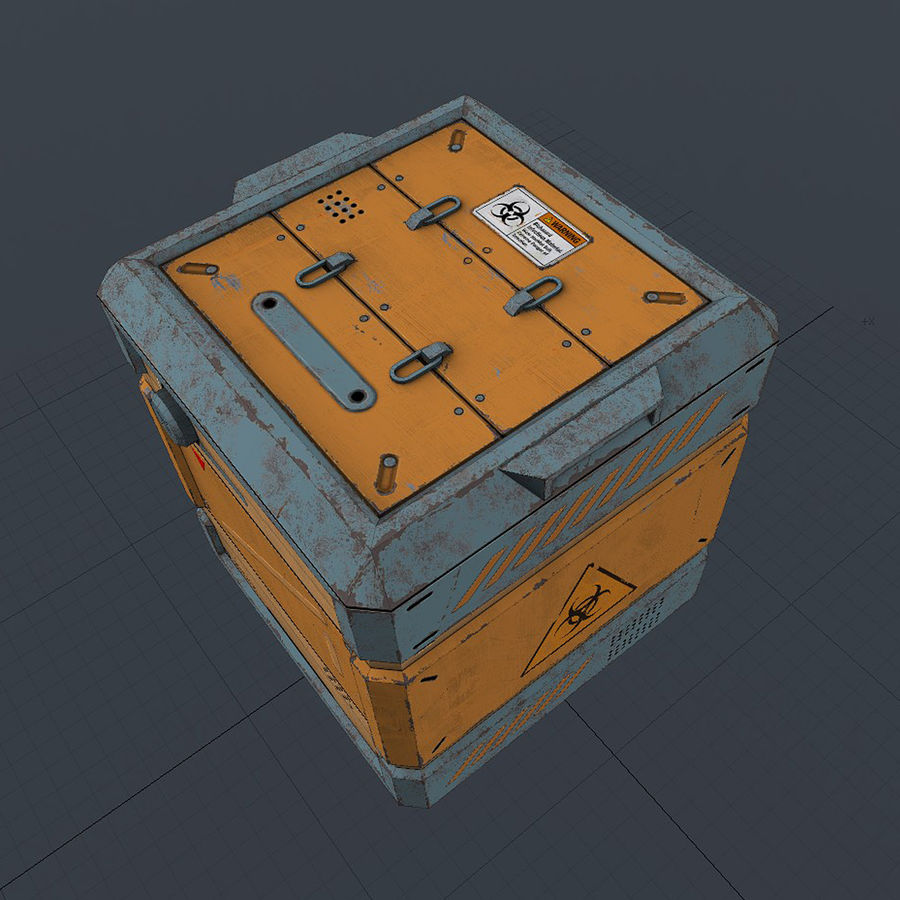 Sci-fi Biohazard Container royalty-free 3d model - Preview no. 6