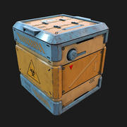 Sci-fi Biohazard Container 3d model